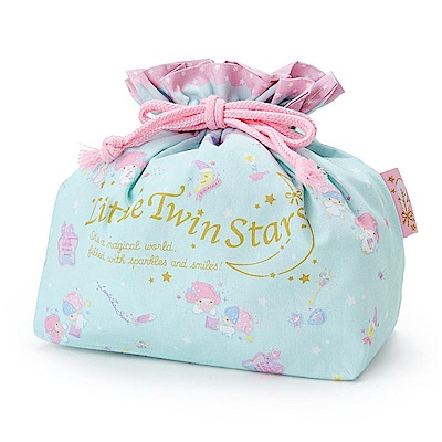 Sanrio 雙星仙子日本製棉質縮口便當袋(晚安甜心)