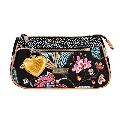 LiliO  收納包 印度藝術植  Basic Cosmetic Bag Ink
