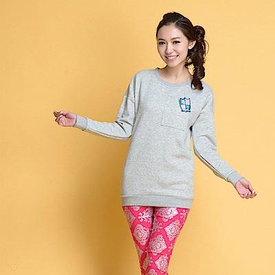 【TOPGIRL】棉針織長版T-淺灰