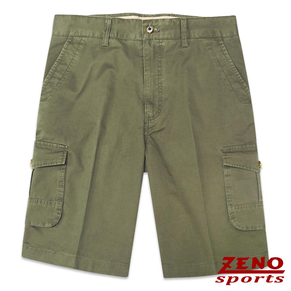 ZENO 精緻水洗立體口袋休閒短褲‧軍綠31~42