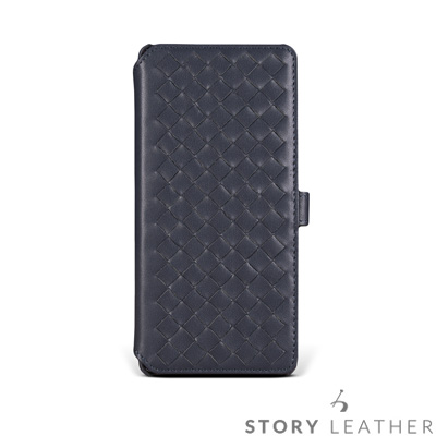 STORYLEATHER Note 8 Style-N87 硬殼式側翻編織  客...