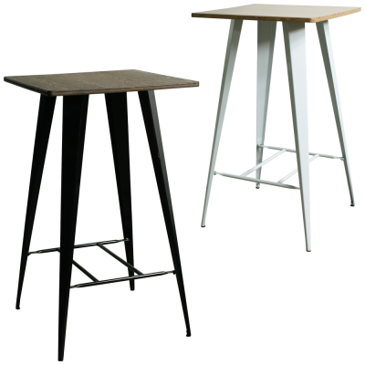 YOI傢俱 利茲工業風金屬吧台桌(高腳桌)58.5x58.5x105cm