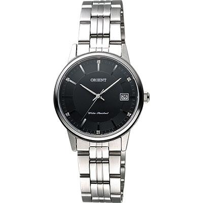 ORIENT 東方錶 SLIM系列城市時尚石英女錶-黑x銀/32mm