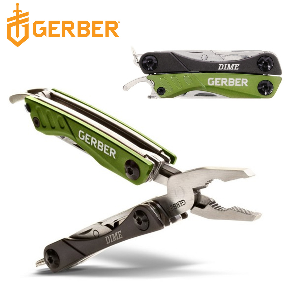 Gerber Dime 戶外多功能鑰匙圈工具鉗-綠色