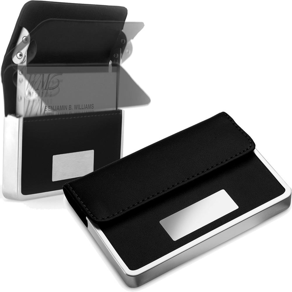 《REFLECTS》好便利橫式名片盒(黑)