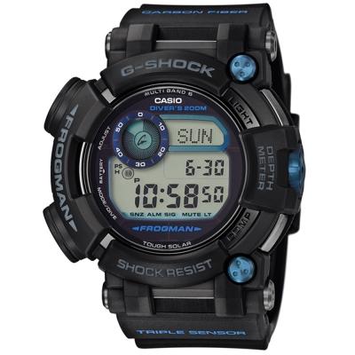 G-SHOCK 潛水專用水中蛟蛙強悍進化版六局電波錶(GWF-D1000B)53.3mm