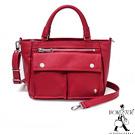 PORTER - 輕甜繽紛SPIRIT小型兩用復古手提包 - 薔薇紅(銀)