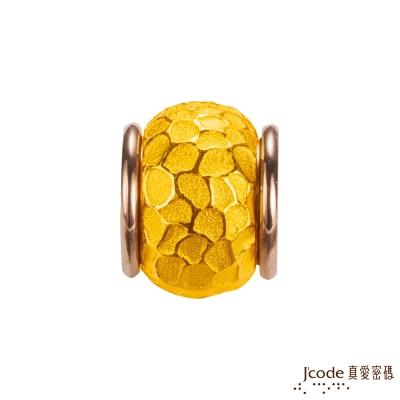 J'code真愛密碼 敲敲說愛你黃金/白鋼串珠-大