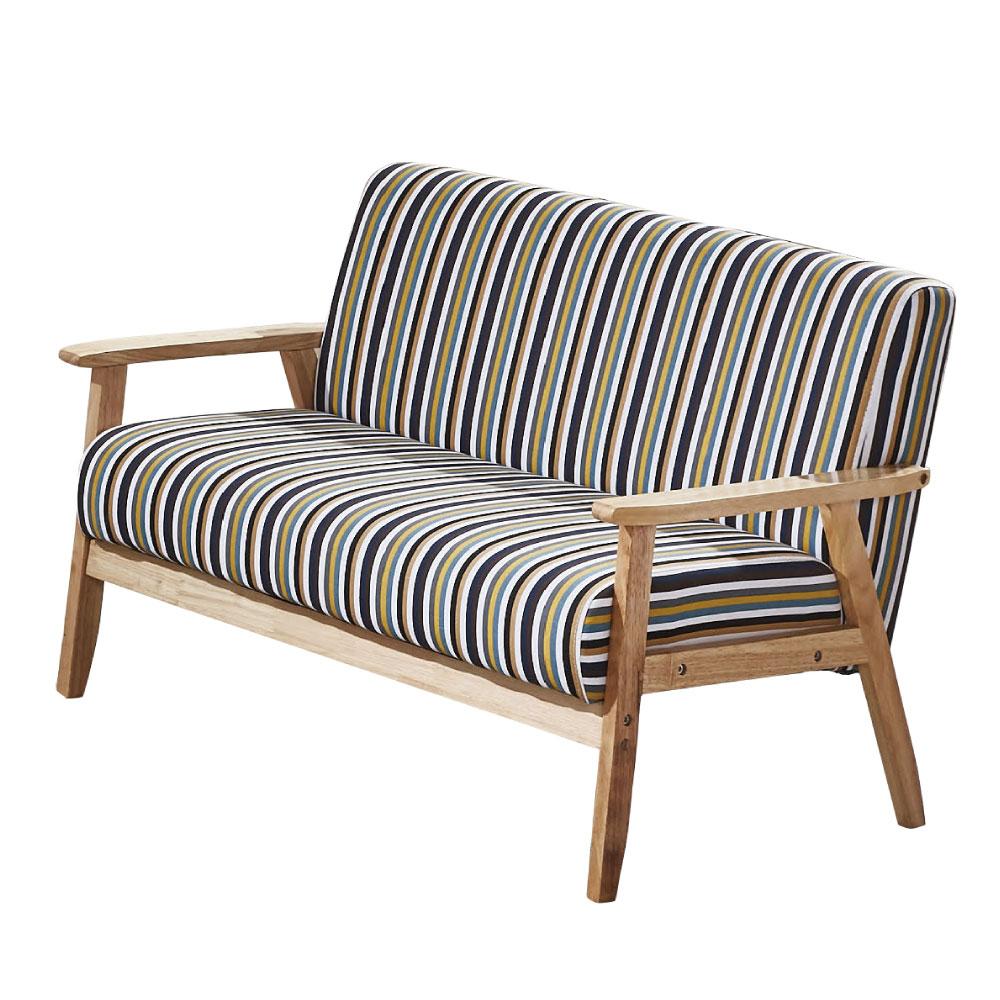 品家居 華莉可亞麻布實木沙發雙人座-112x65x71cm免組