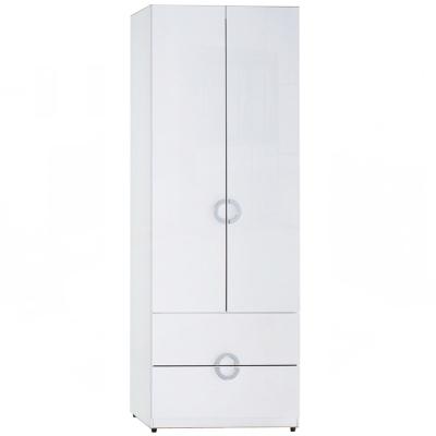 AT HOME - 凱倫2.3尺白色二抽衣櫃 70x54x197cm