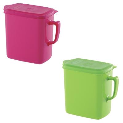 日本Richell《手提式保鮮桶》1.6L(顏色隨機) 1入