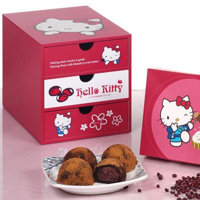《Hello Kitty》紅豆大福木盒組禮盒(SKT15)-2組