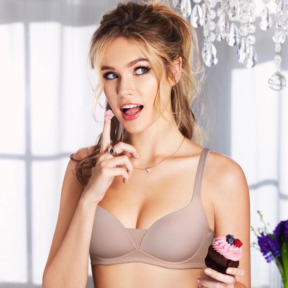 黛安芬-Home Bra-紓壓無鋼圈系列B-C罩杯內衣(知性裸)