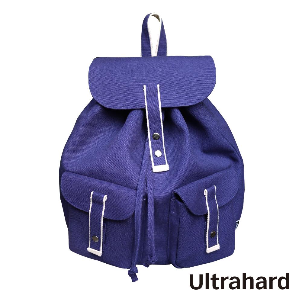 Ultrahard 閱讀城市 水桶束口背包系列-小英倫(藍)