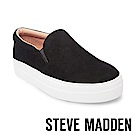 STEVE MADDEN-GILLS-BLACK 麂皮素面厚底懶人鞋-黑色