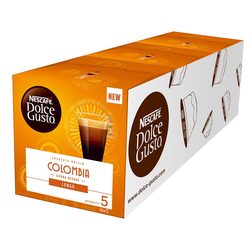 雀巢咖啡 DOLCE GUSTO 美式濃黑咖啡膠囊哥倫比亞限定版12顆入(3盒)