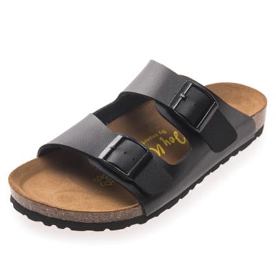 Joy Walker 金屬雙釦二條休閒拖鞋*黑色