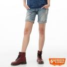5th STREET 短褲 洗舊破損牛仔五分褲-女-漂淺藍