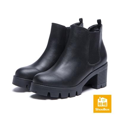 達芙妮DAPHNE-ShoeBox系列-短靴-素面