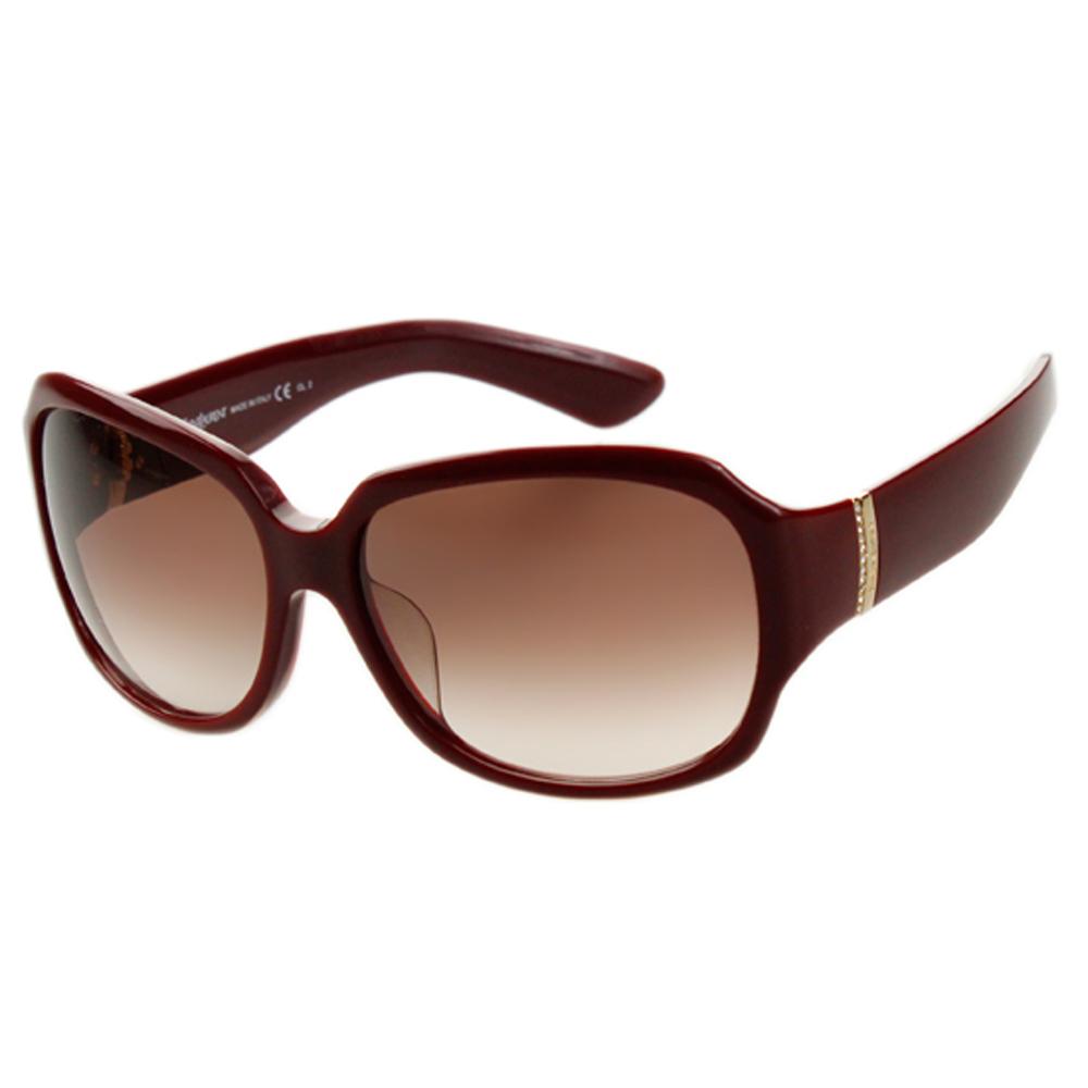 YSL-時尚太陽眼鏡 (黑色/紅色)