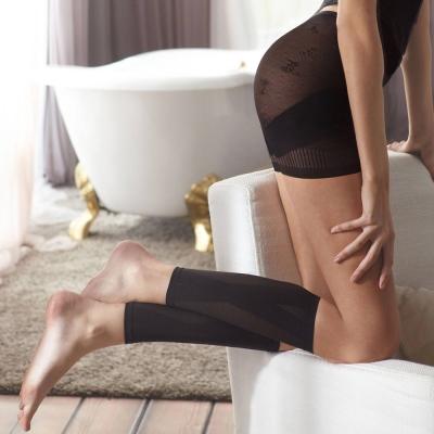 曼黛瑪璉-羽涼級‧輕鬆塑   中機能勻腿塑腿套(黑)