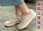 復古臘皮厚底鞋