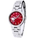 HELLO KITTY 凱蒂貓甜美可愛時尚手錶-紅X銀/26mm