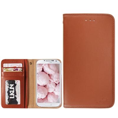 韓國 LKUN 三星 Galaxy S4 i9500 潮流簡約時尚牛皮皮套