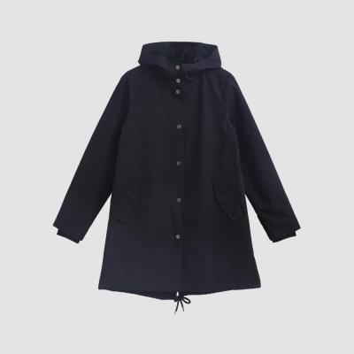 Hang Ten - 女裝 - 刷毛連帽派克外套 - 黑