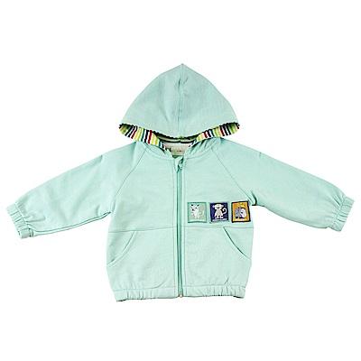 愛的世界 純棉鬆緊帶長袖連帽外套/6M~3歲