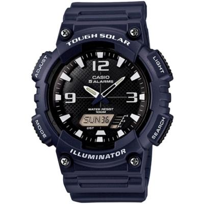 CASIO 新一代光動遊俠雙顯運動錶(AQ-S810W-2A2)-深藍X白時刻/52mm