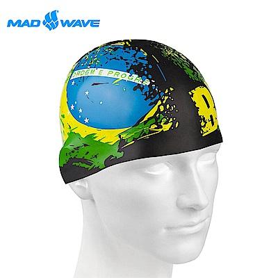 俄羅斯 邁俄威 成人矽膠泳帽 MADWAVE BRAZIL