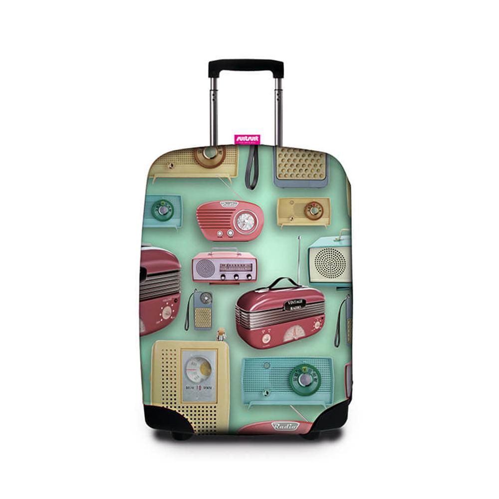 Suitsuit 行李箱套 -復古收音機(適用24-28吋行李箱)