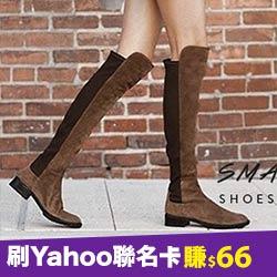 真皮訂製直筒及膝長靴