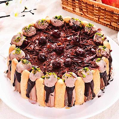 樂活e棧 生日快樂蛋糕-精緻濃郁黑魔豆盆栽蛋糕(6吋/顆,共1顆)