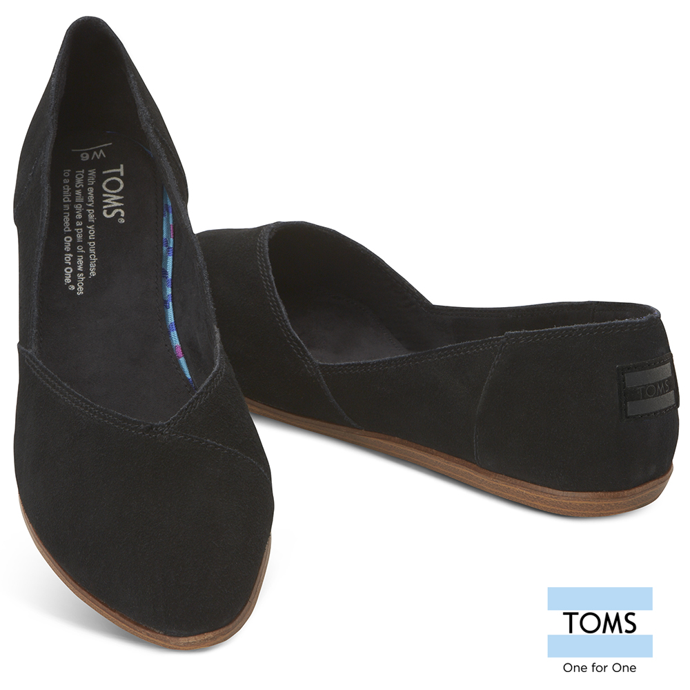 TOMS 氣質麂皮平底尖頭鞋-女款