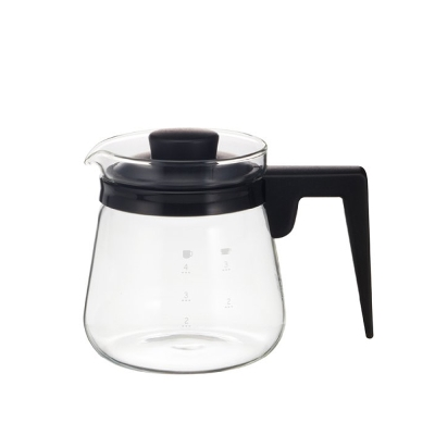 【iwaki】新款玻璃微波咖啡壺 600ml(黑)