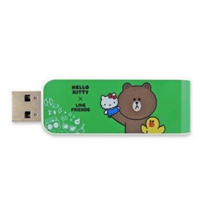 Apacer宇瞻 AH334 Kitty X Line派對聯名碟 16GB 熊大綠