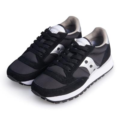 (女) 美國 SAUCONY 經典時尚休閒輕量慢跑球鞋-黑銀