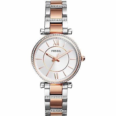 FOSSIL 羅馬晶鑽魅力時尚女錶(ES4342)-35mm