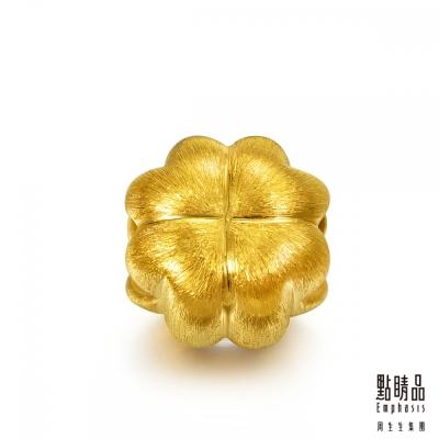 點睛品 Charme 四葉心型幸運草 黃金串珠