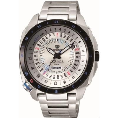 J.SPRINGS Sports Automatic自動上鍊機械錶款-銀-47mm