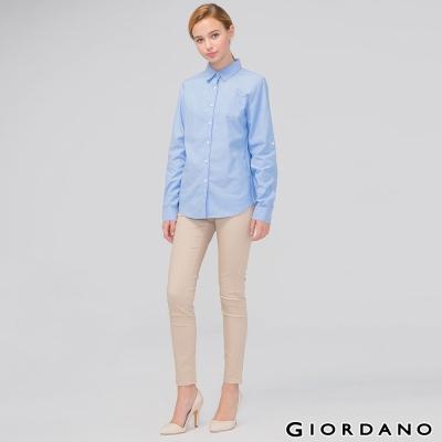 GIORDANO-女裝低腰彈力修身窄管休閒褲-99-新英式卡其