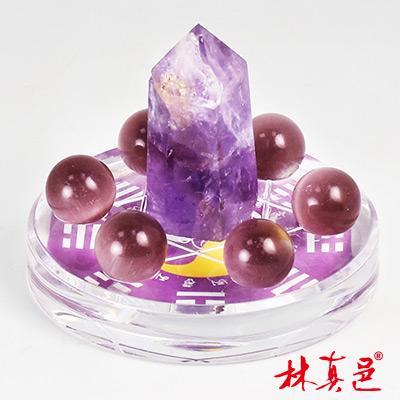 冰晶柱貓眼七星陣(紫)  林真邑