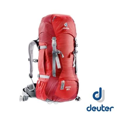 【德國 Deuter】FOX 30+4L 輕量拔熱透氣健行登山背包_暗紅/紅