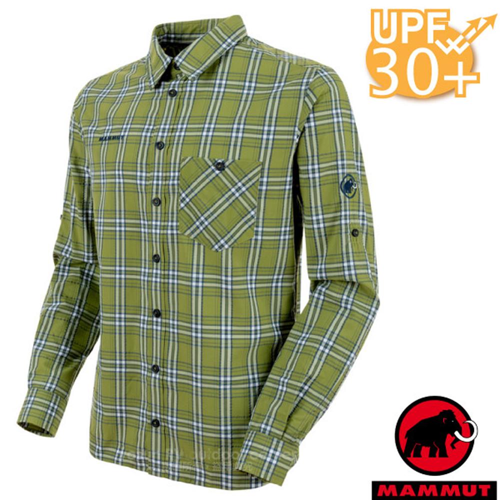 【瑞士 MAMMUT 長毛象】Belluno 男新款 彈性透氣長袖襯衫_蘆薈綠