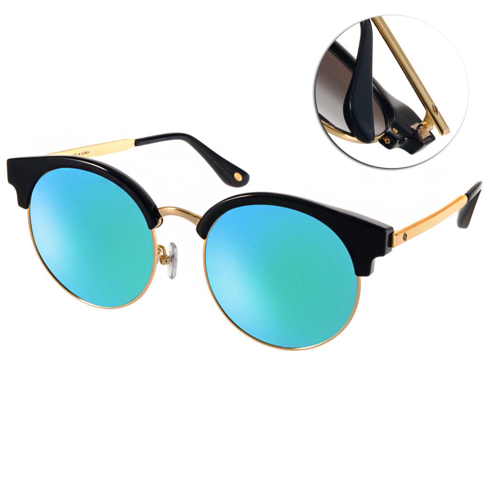 Go-Getter太陽眼鏡 韓系貓眼款/黑金-水銀鏡片#GS4005 C03