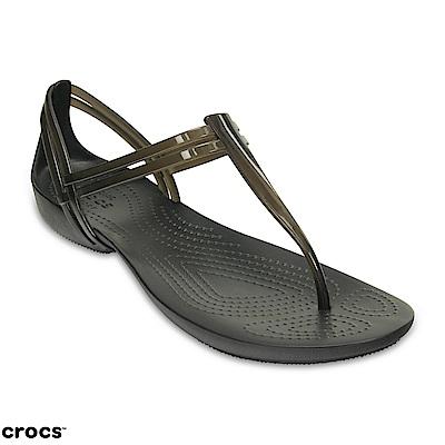 Crocs 卡駱馳 (女鞋) 伊莎貝拉T型涼鞋 202467-001