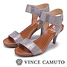 Vince Camuto 寬版繞踝一字細跟涼鞋-銀色