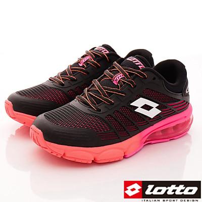 Lotto樂得-避震氣墊鞋款-WRFI280黑桃-女段